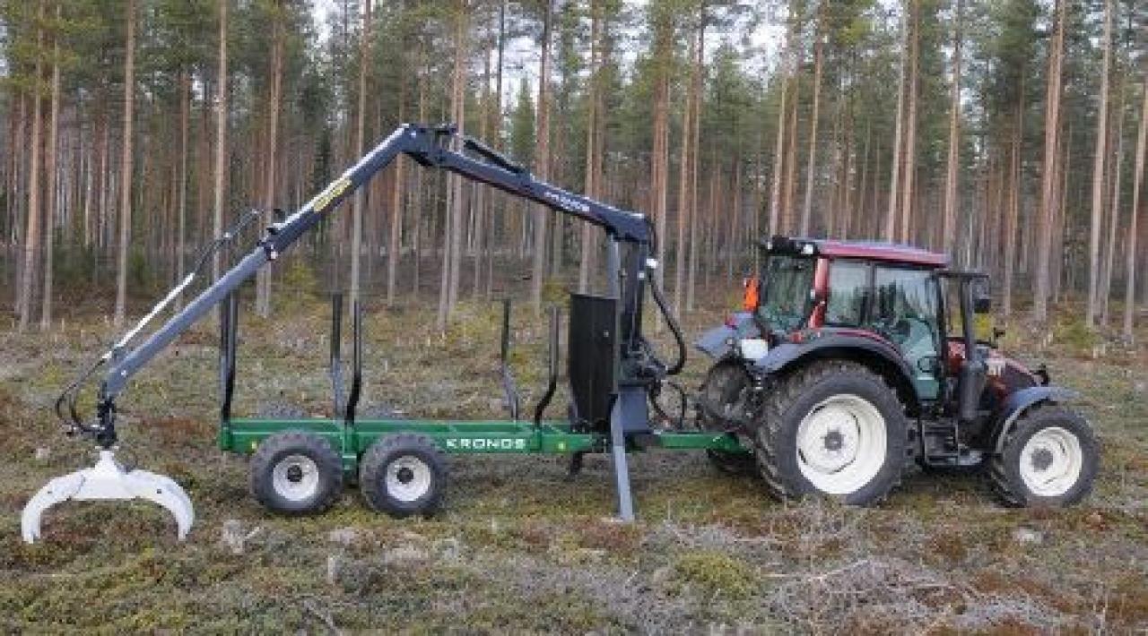 Kronos Rueckewagen mit Kran 4000 100H