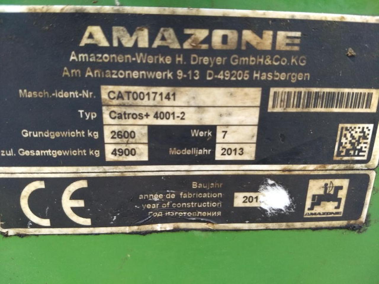 Amazone CATROS 4001-2