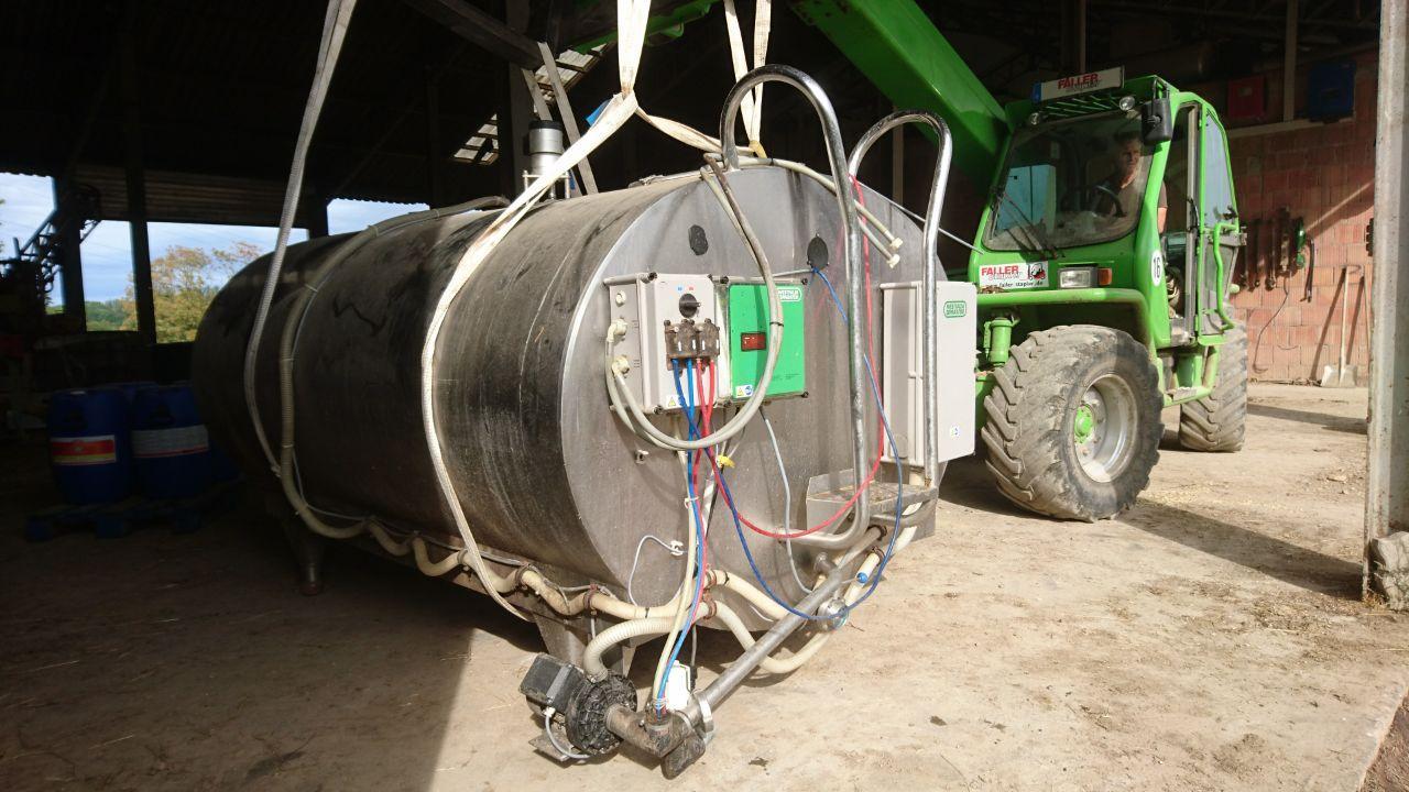 Westfalia 3200 Liter Milchtank